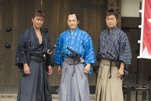 A hakama was used before the karate gi was implemented.