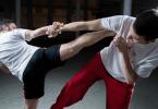 MMA gym fighting