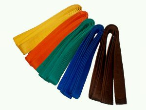 karate belts of different colors