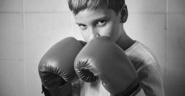 Kids in kickboxing gloves